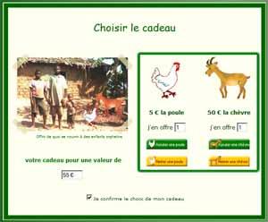 Offrir des animaux en cadeau solidaire aux orphelin du sida.