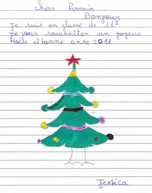 Lettre de voeux de Bonne Année d'un orphelin de l'Ile Ste Marie à Madagascar