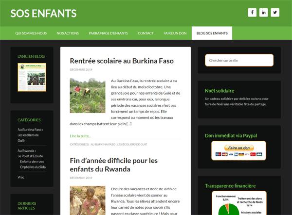 le nouveau blog de SOS Enfants