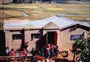 Les salles de classes en cours de construction