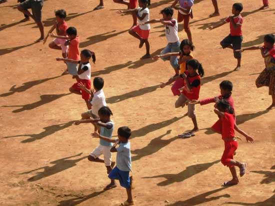 Cours d'arts martiaux au Centre Akany Aina à Madagascar