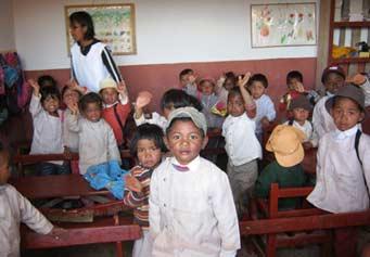 Rentrée des classes à Madagascar