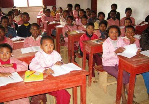 Centre Akany Aina à Madagascar, classe de CM2