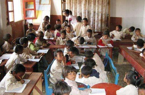 Centre Akany Aina à Madagascar, classe de CP1