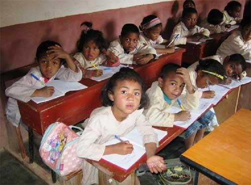 Centre Akany Aina à Madagascar, classe de CP2