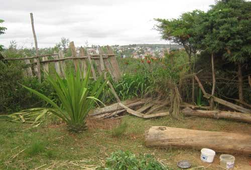 Palissade côté cimetière au Centre Akany Aina à Madagascar