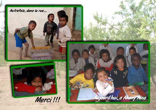 Les enfants du Centre Akany Aina à Madagascar