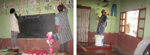 Travaux de rénovation de l'école Akany Aina d'Ambatolampy à Madagascar