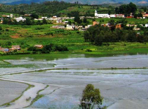 Inondations causées par les pluies cycloniques à Madagascar