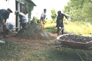 Sable et cailloux pour la fabrication du béton