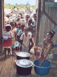 Cantine scolaire à Madagascar