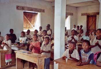 Ecole d'Ambodirafia à Madagascar, classe de madame Delphine