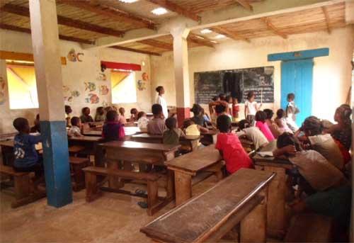 La classe de CE1 de l'école d'Ambodirafia à Madagascar