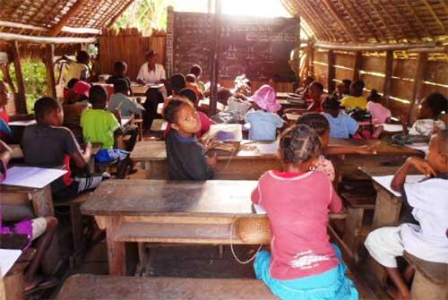La classe de CP de l'école d'Ambodirafia à Madagascar