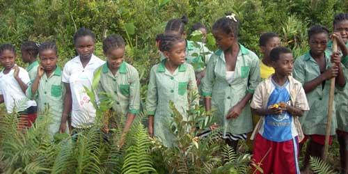 Enfants de la région d'Ambodirafia