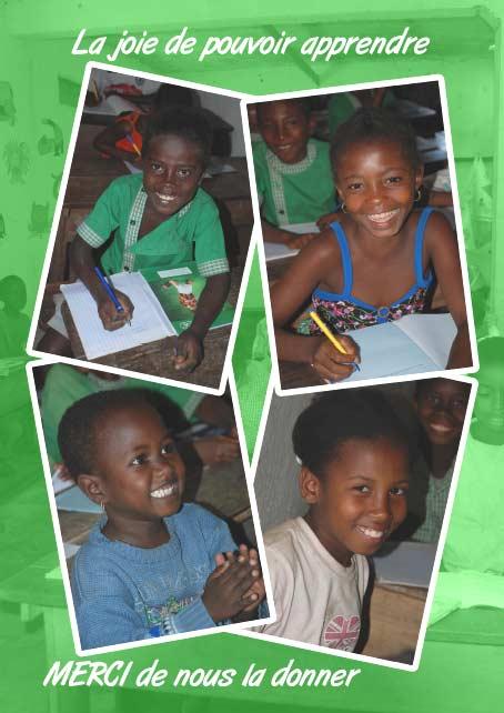 Sourires d'enfants de l'école d'Ambodirafia à Madagascar