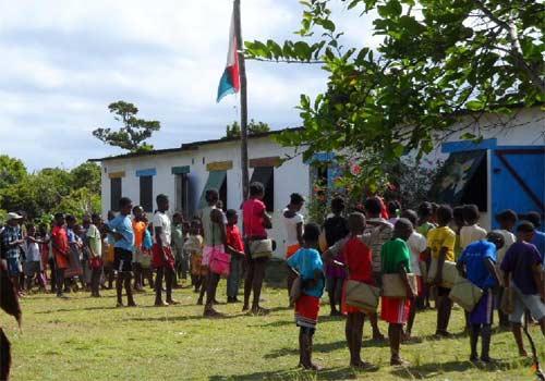 Rentrée scolaire pour les enfants de l'école d'Ambodirafia à Madagascar