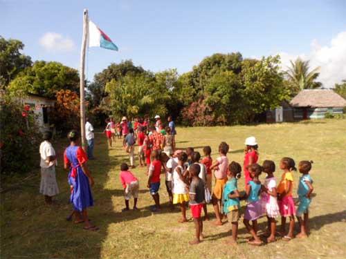 Rentrée des classes à l'école d'Ambodirafia à Madagascar