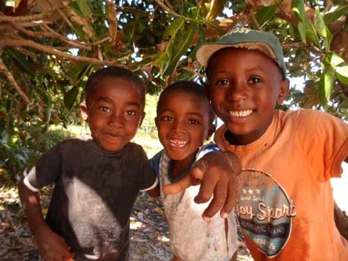 Sourire d'enfants à Madagascar