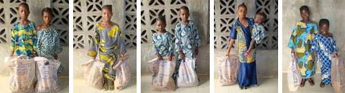 Distribution alimentaire aux orphelins du sida au Bénin