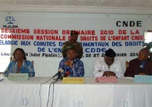 Conférence pour les Droits de l'Enfant au Bénin