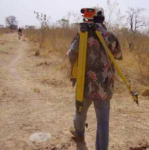 Arpentage du périmètre à aménager, Cissé-Yargo, Burkina Faso