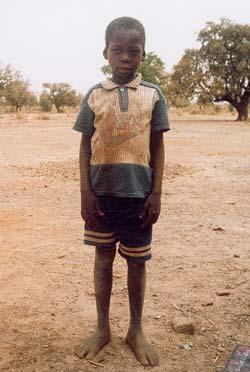 Un écolier de Guiè, Burkina Faso