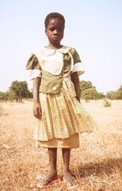 Une écolière de Guiè, Burkina Faso