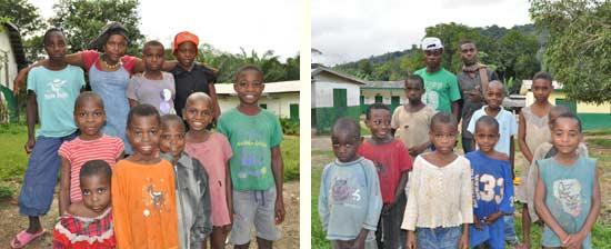Les enfants des familles Coqs et Gazelles