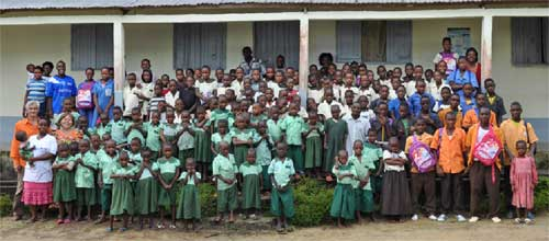 Les enfants Pygmées pensionnaires du Fondaf Bipindi au Cameroun