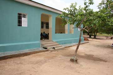 La maison verte du Village d'Enfants Bumi de Karavia