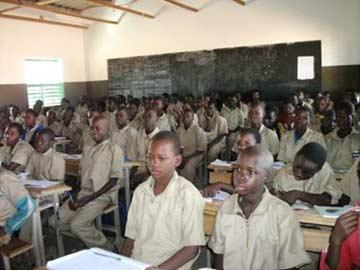 Classe du collège de Guiè au Burkina Faso