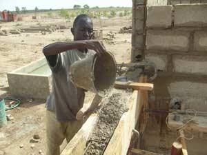 Chaînage de la nouvelle école B de Guiè, Burkina Faso
