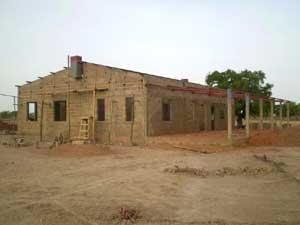 Fin des travaux de maçonnerie de la maternité de Guiè, Burkina Faso
