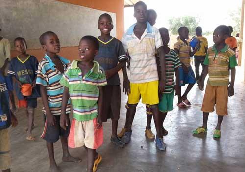 Elèves des écoles de la région de Guié au Bukina Faso