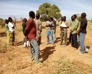 Délimitation des logements des enseignants de l'école B de Guiè, Burkina Faso