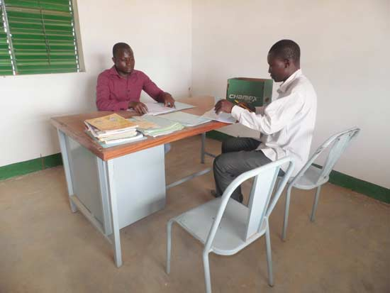Bureau du Directeur du collège de Guiè au Burkina Faso