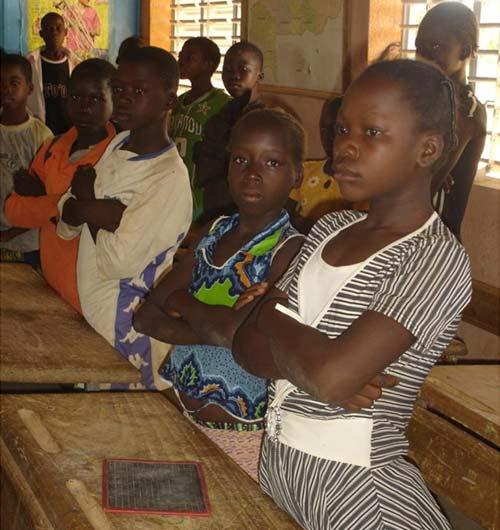 Ecoliers du Burkina Faso en classe