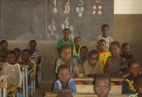 Une classe d'école primaire au Burkina Faso