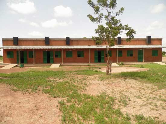 Construction du nouveau collège de Guiè au Burkina Faso
