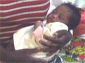 Nouveau-né à Kirundo au Burundi