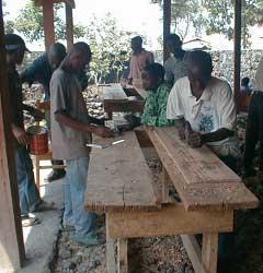 Formation professionnelle des enfants soldats démobilisés à Goma