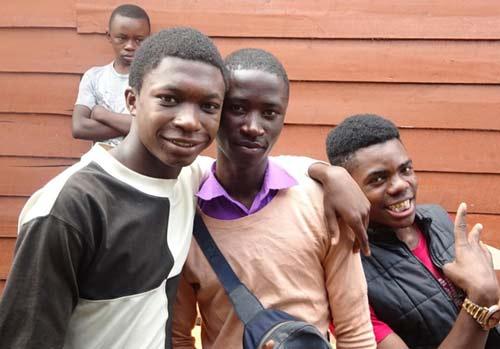 Enfants soldats démobilisés à Goma.
