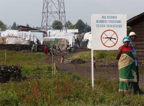 Camp de réfugiés à Goma