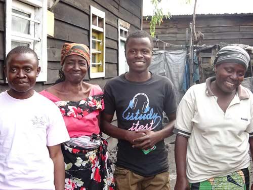 Famille d'enfants soldats réunifiés à Goma,