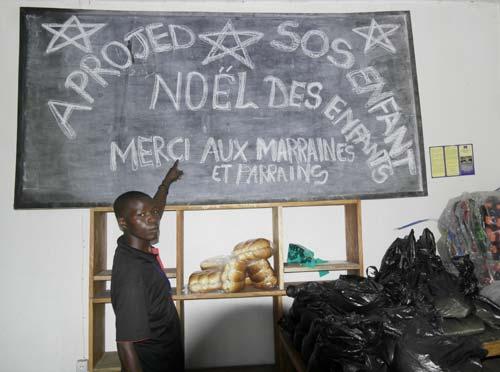 Fête de Noël pour les enfants d'APROJED à Goma, promotion 2015