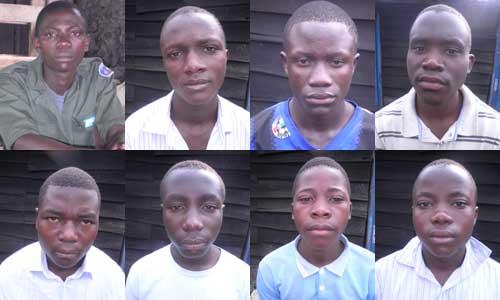 Apprentis menuisiers, promotion 2012 - Goma