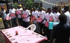 Apprentis menuisiers, promotion 2011 - Goma