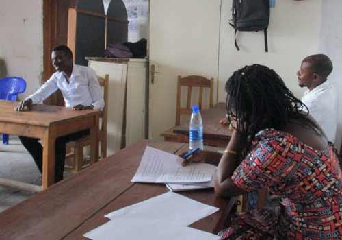 Epreuve orale de l'examen professionnel en menuiserie à Goma, RDC, promotion 2015