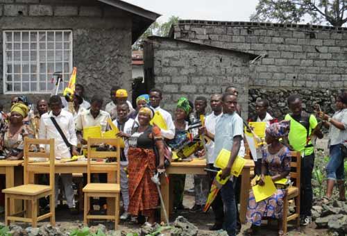 Jury d'examen professionnel en menuiserie à Goma en RDC, promotion 2015